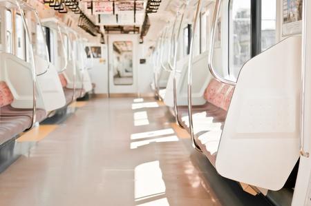Empty seats in the train