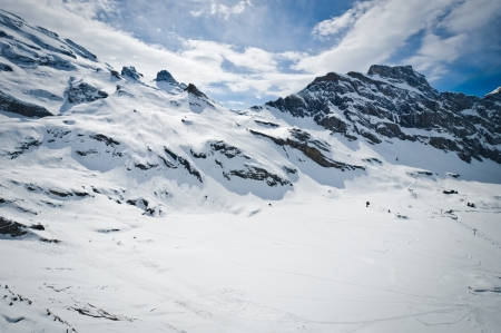 Urner Alps, view from Titlis mountain, Obwalden, Switzerland 版權商用圖片 - 14693944