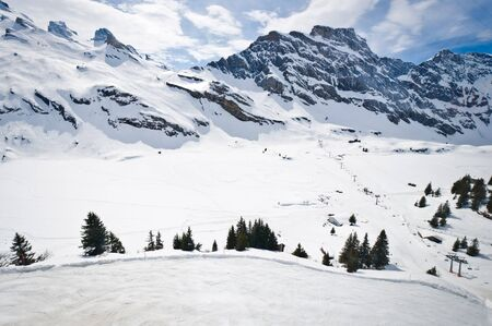 Urner Alps, view from Titlis mountain, Obwalden, Switzerland photo