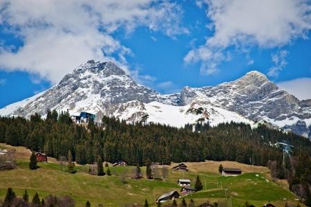 Gross Walenstock and Rigidalstock of Urner Alps in Engelberg, Obwalden, Switzerland 版權商用圖片 - 14693997