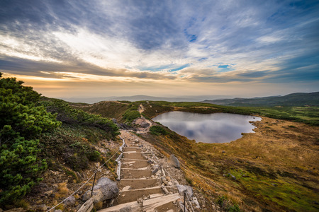 Mountain landscape near Asahidake in Daisetsuzan national park, Hokkaido 版權商用圖片 - 26803465