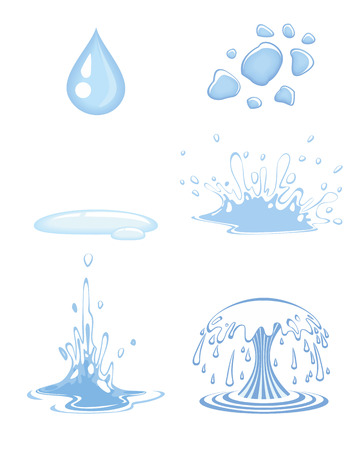 splashing water: Vector illustration of a water drops set