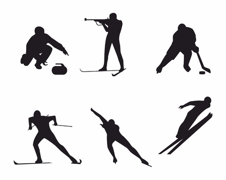 Vector illustration of a winter sports