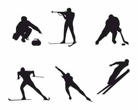 Vector illustration of a winter sports Фото со стока - 33739085