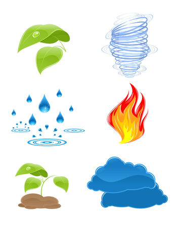 illustration of a nature elements icons