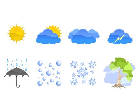 Vector illustration of a weather icons set
