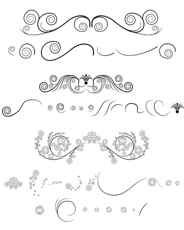 Vector illustration of a floral pattern on white