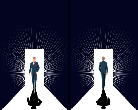 Vector illustration of  insight in business on black