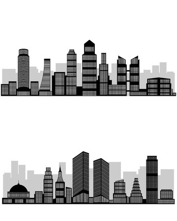 Vector illustration of a silhouette abstract city