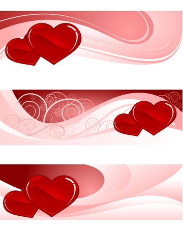 Vector illustration of a fantasia on Valentines Day