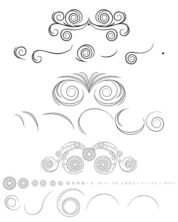 Vector illustration of a components floral pattern