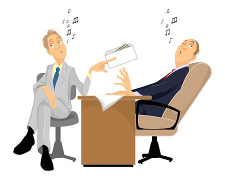 remuneraciones: Vector ilustración de un hombre dando un soborno Vectores