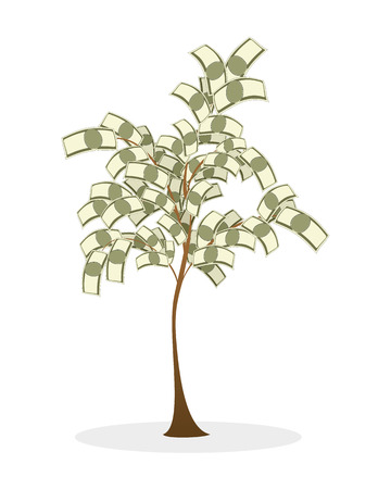 Vector illustration of a lush money tree Фото со стока - 37633260