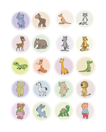 Vector illustration of the icons animals set Vector
