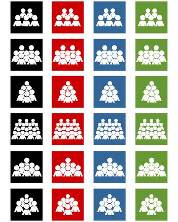 group icon: Vector illustration of a social icons set Illustration