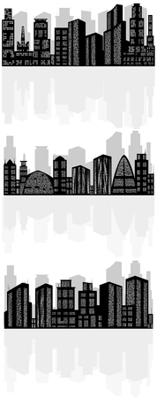 Vector illustration of a abstract city silhouette Фото со стока - 49745671