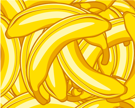 Vector illustration of a banana seamless pattern Ilustracja
