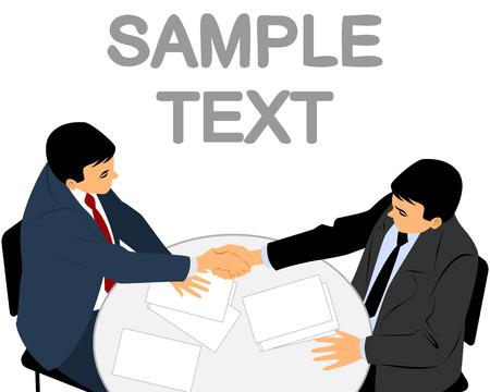 Vector illustration of a two businessmen handshake Ilustracja