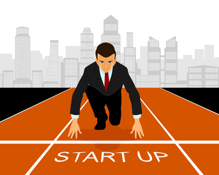 Vector illustration of a start up in business Ilustracja