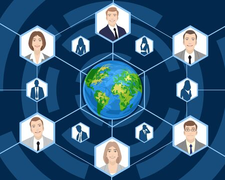 Vector illustration of a people in global business Фото со стока - 51932286