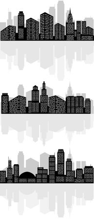 Vector illustration of a abstract city silhouette Фото со стока - 51932294