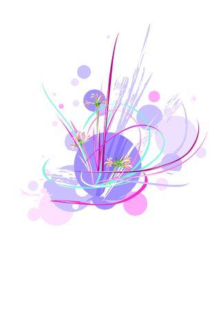 Vector illustration of a grunge floral background