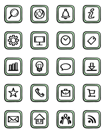 Vector illustration of a web icons set