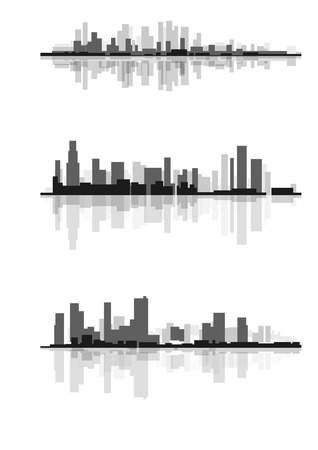 Vector illustration of a abstract city silhouette Фото со стока - 51919716