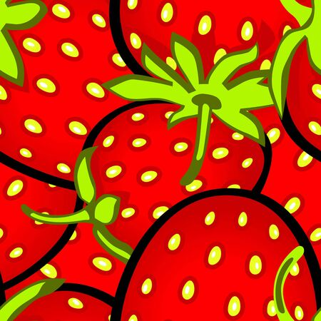 Vector illustration of a strawberry seamless pattern Ilustracja