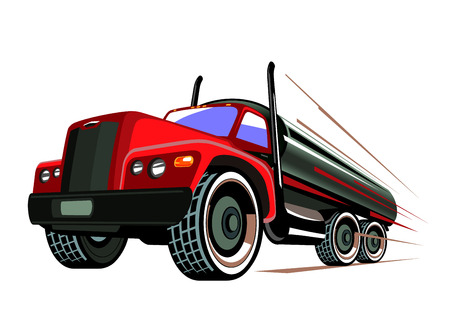 cistern: Vector illustration of a truck hurtling on road