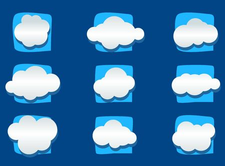 Vector illustration of a clouds set on blue Фото со стока - 51903498