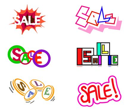 Vector illustration of a six sale icons Фото со стока - 51919504