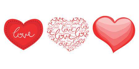 three love hearts for valentines day with patchwork signs and royalty free cliparts vectors and stock illustration image 25123861