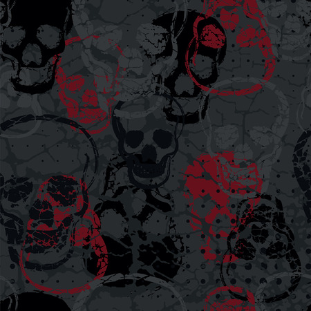seamless bacground: Colored horror skull seamless pattern for bacground