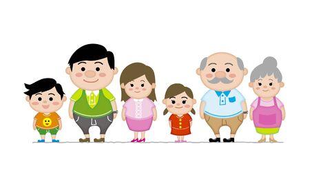 three generations: Three generations Illustration