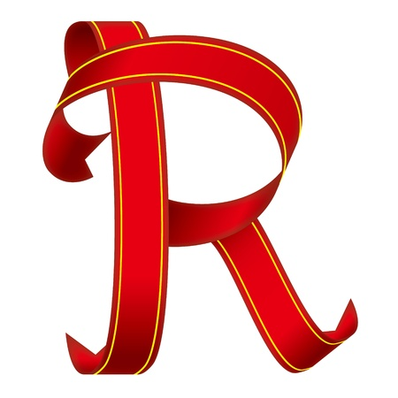 ribbon Alphabet Stock Vector - 17887633