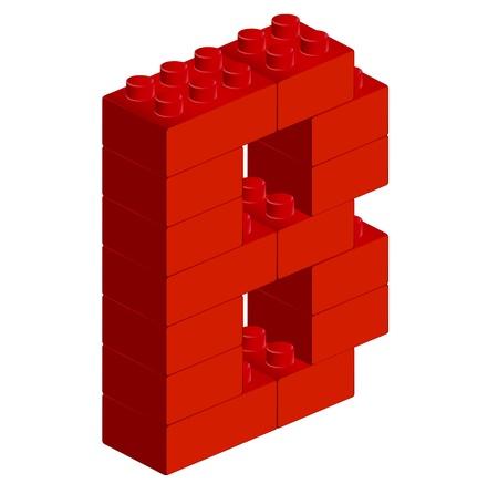 ブロックのアルファベット