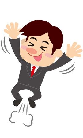 rejoice: businessman rejoice