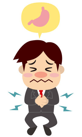 stomach ache: Businessman is stressed