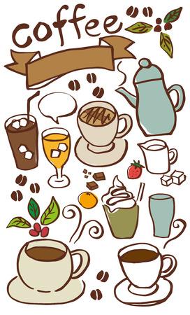 Cafe drinks menu Illustration