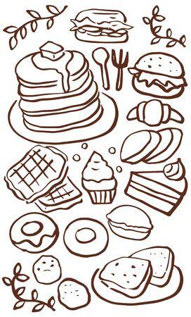 cafe food: Cafe food menu Illustration
