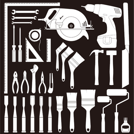 nipper: Carpenters tools Illustration