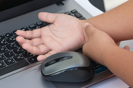 carpal tunnel syndrome: Carpal tunnel syndrome, wrist pain from working