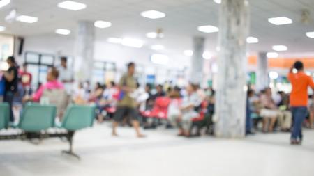 onscherpe achtergrond van Aziatische patiënten wachtruimte in het ziekenhuis of de kliniek.
