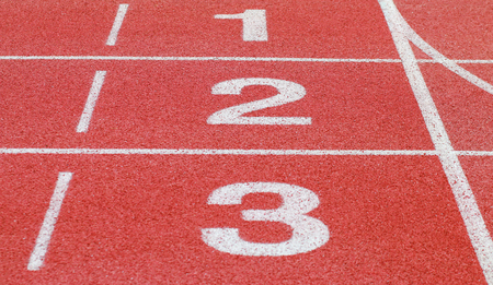 running track, start and number line Stockfoto