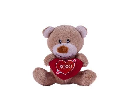xoxo: A valentine teddybear with a heart and xoxo message Stock Photo