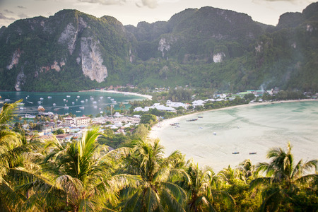 phi phi: Phi Phi viewpoint in the evening