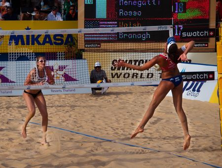 marta: Marta Rosso and Nicole Branagh Photo taken during Phuket Thailand open a last event of 2010 Swatch Fivb tour 2-7 november 2010