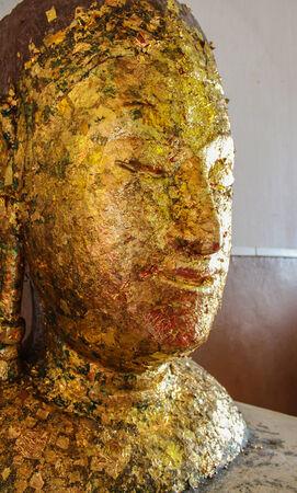 budha: Buddha head and media arts spectacular of the Buddhist faith
