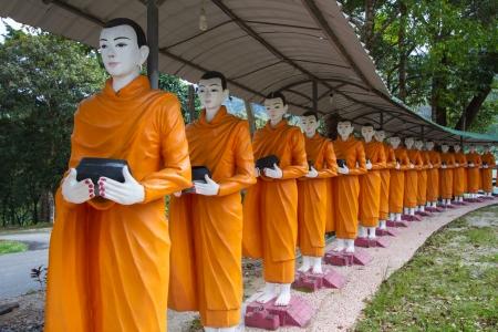 Monks alms round